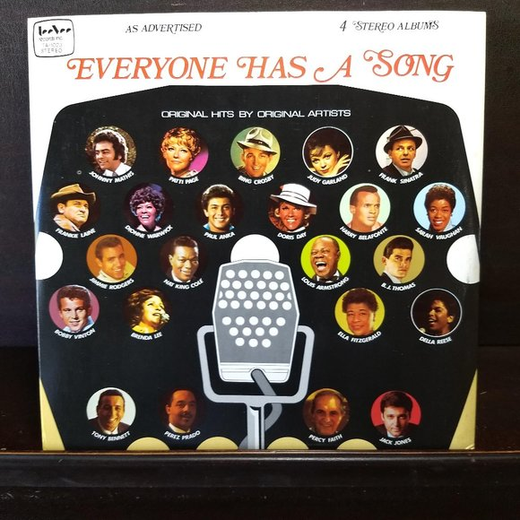 🎈HP🎈Everyone Has a Song, 4 LP compilation